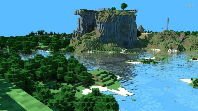 Minecraft constructions Athah Fine Quality Poster Paper Print