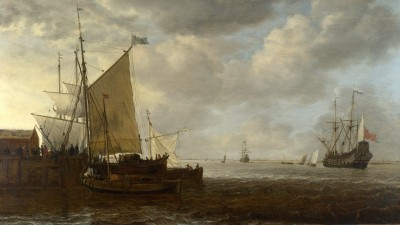 Ships Sea Storm Painting Oil Canvas Poster Paper Print