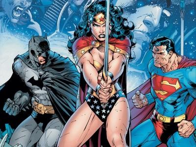Wonder Woman Batman Superman Frameless Fine Quality Poster Paper Print
