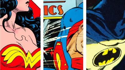 DC Wonder Woman Superman Batman Frameless Fine Quality Poster Paper Print