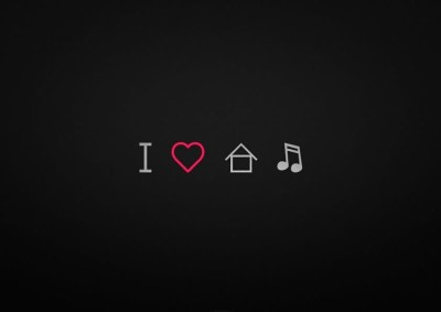 I Love House Music A3 NON TEARABLE High Quality Printed Poster - Wall Art Print (Size : 11.7 x 16.5) , For Bedroom , Living Room, Kitchen, Office, Room Paper Print