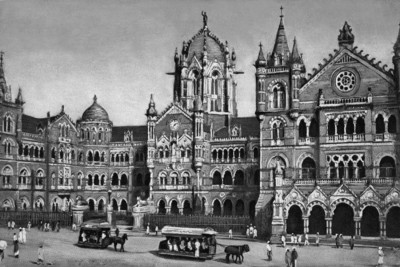 Athah Poster Victoria Terminus Bombay Poster Art Rolled Paper Print