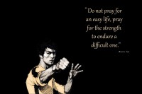Oshi - Bruce Lee Motivational (3) Paper Print(12 inch X 18 inch, Streched)