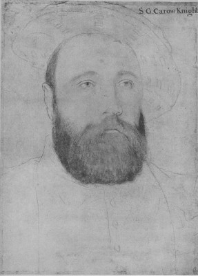 Portrait of Sir George Carew. c.1540-43 (Medium) Paper Print