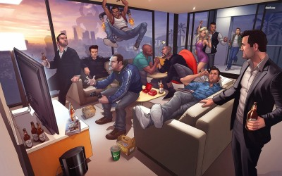 Grand Theft Auto characters Athah Fine Quality Poster Paper Print