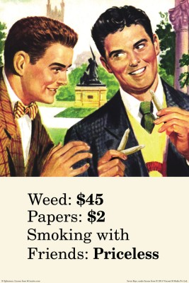bCreative Weed Papers Smoking With Friends (Officially Licensed) Paper Print