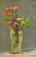Carnations and Clematis in a Crystal Vase by Edouard_Manet Fine Art Print(24 inch X 18 inch, Rolled)