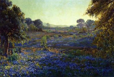 The Museum Outlet Bluebonnets at Late Afternoon, near La Grange, Texas, 1918 (Medium) Canvas Painting
