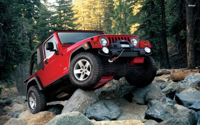 Athah Jeep Patriot on the rocks Poster Paper Print