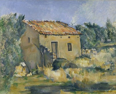 The Museum Outlet The Abandoned House near Aix-en-Provence, 1885-87 (Medium) Canvas Painting