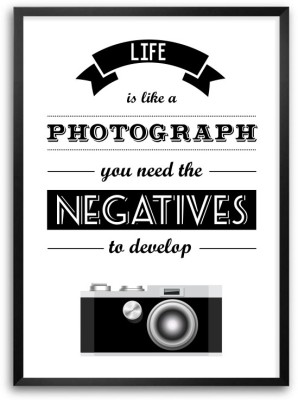 Life Is Like A Photographs Life Inspirational Framed Quotes Poster Paper Print