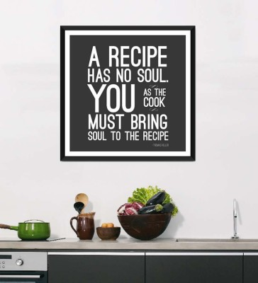 Tallenge Art For Kitchen - Soul Of The Recipe - Framed Art Print On Photographic Paper