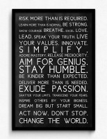 Seven Rays Rules to be Amazing Framed (Small)(19 inch X 13 inch)