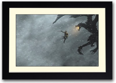 Knight Fighting Dragon Fine Art Print