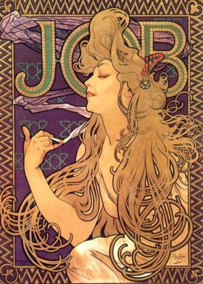 Alphonse Mucha Job Cigarettes 1 (Medium) Paper Print