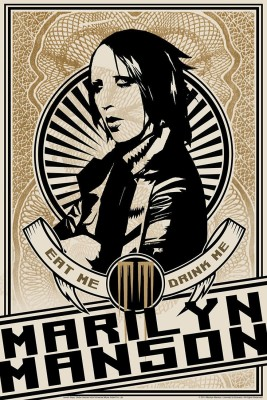 Marilyn Manson Eat Me Drink Me (Officially Licensed) Paper Print(12 inch X 18 inch, Rolled)