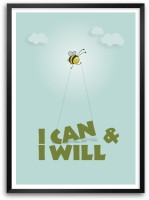 I Will And I Can Life Inspirational Motivational Quotes Framed Poster Paper Print(16.5 inch X 11.7 inch)