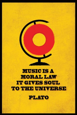 Seven Rays Music ss a Moral Law - Plato Paper Print