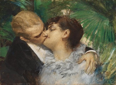 Anders Zorn - The Embrace 1882-83 (Medium) Paper Print