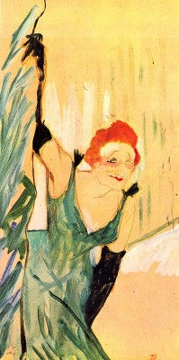The Museum Outlet Yvette Guilbert greets the Audience by Toulouse-Lautrec - Print (24 x 18 Inch) Canvas Painting