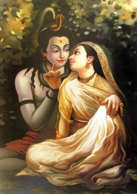 Athah Religious Poster sk Shiv Parvati Paper Print