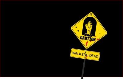 The Walking Dead Zombie Walking Dead Frameless Fine Quality Poster Paper Print