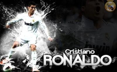 Cristiano Ronaldo - Blasting Soccer player of Real madrid Team Poster Paper Print