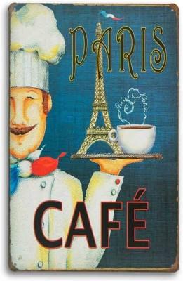Paris Coffee Cafe Metal Plate Fine Art Print