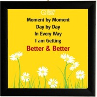 Moment By Moment Affirmation Square Framed Poster by QuoteSutra Paper Print(9.2 inch X 9.2 inch)