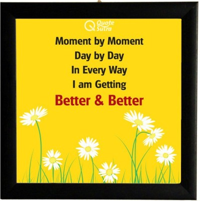 Moment By Moment Affirmation Square Framed Poster by QuoteSutra Paper Print