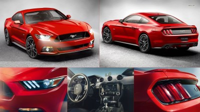 Athah 2015 Ford Mustang GT Poster Paper Print