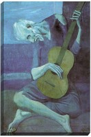 Athah Poster The Old Guitarist by Pablo Picasso Paper Print(18 inch X 12 inch, Rolled)