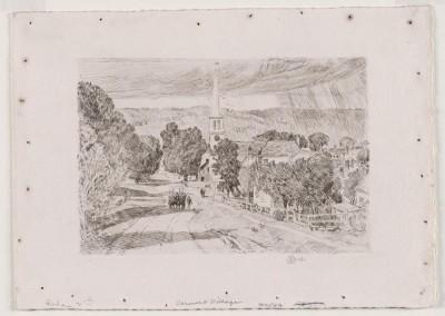 Vermont Village, 1923 (Medium) Paper Print