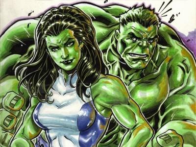 She-Hulk Hulk HD Wall Poster Paper Print