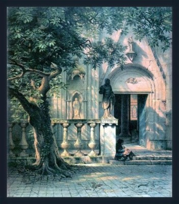 Sunlight And Shadow By Bierstadt - ArtsNyou Printed Paintings Canvas Art