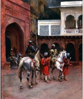 Tallenge Modern Masters Collection - Indian Prince, Palace of Agra by Edwin Lord Weeks - Small Size Ready To Hang Gallery Wrap Canvas Painting