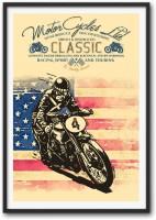 Motor Cycles Ltd Vintage Style.: Framed Poster Paper Print