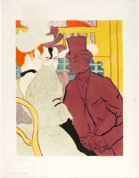 Tallenge Modern Masters Collection - An Englishman at the Moulin Rouge by Henri de Toulouse-Lautrec - A3 Size Premium Quality Rolled Poster Paper Prin