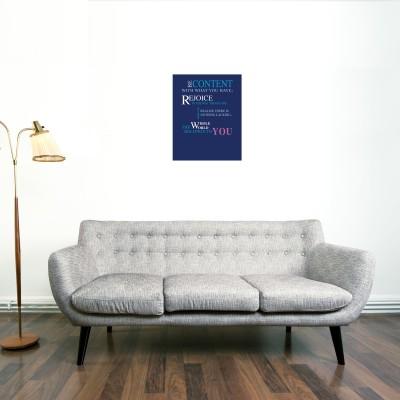 Blue Quote Canvas Canvas Art