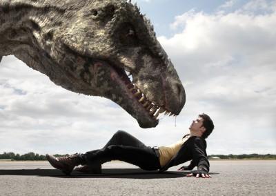 Wall Poster TVShow Primeval Connor Temple Andrew-Lee Potts Giganotosaurus Dinosaur Paper Print