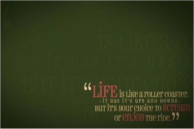 Life Is Like A Roller Coaster Paper Print