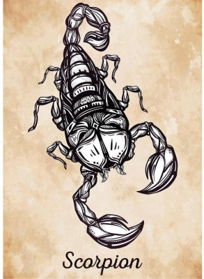Scorpion Tattoo Art Sign Of Horoscope Premium Poster Canvas Art