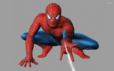 Spider-Man shooting web Athah Fine Quality Poster Paper Print
