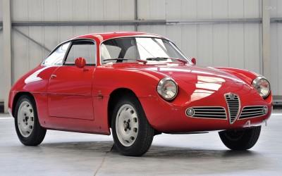 Athah 1960 Alfa Romeo Giulietta Sprint Zagato Poster Paper Print