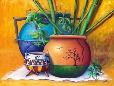 Three Pots Canvas Art