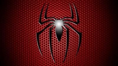 Comics Spider-man Spider-Man Spider Man Logo Red Grid Black Simple Fine Art Paper Print Poster Fine Art Print