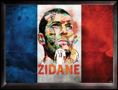 Zidane Winner Artwork Canvas Art