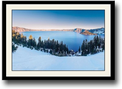 Crater Lake in Winters Fine Art Print