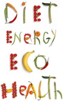 Diet, Energy, Eco & Health Premium Poster Paper Print