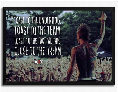 Machine Gun Kelly- Toast to the underdog (Officially Licensed) Framed Paper Print